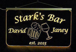 Personalized LED Man Cave Bar Sign- Garage Sign, Gift for Dad -Beer mugs image 10
