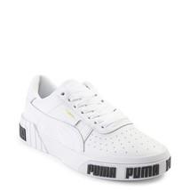 Damen PUMA Cali Bold Athletic Schuhe Weiß Schwarz Logos Neu - $109.99