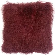 Pillow Decor - Mongolian Sheepskin Wine Throw Pillow - $1.404,82 MXN