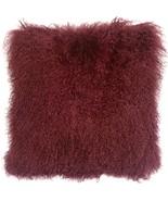 Pillow Decor - Mongolian Sheepskin Wine Throw Pillow - $74.95