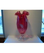 """Fenton white swirl 8 """"mellon rib vase. - $25.00"""