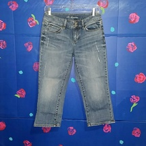 VS Hipster Capri Destroyed Jeans Size 6 - $30.00