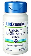 Life Extension Calcium D-glucarate 200 Mg x 60 ... - $22.34