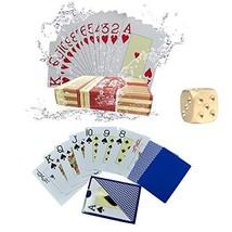 Playing Cards, Poker Size, Waterproof Large Print Jumbo Index, Linen Finish Surf