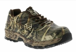Realtree Outfitters Sz 9.5 M Mens Composite Toe Copperhead Camouflage Shoes Camo
