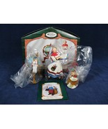 Set of 3 Hallmark Keepsake Ornament Collector's Club Lettera Globus Mrs ... - $17.81