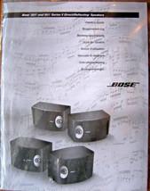 Bose 201 301 Series V Direct Reflecting Speakers Original Owner's Manual... - $19.79