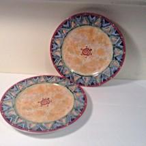 Sakura Vitromaster Mutare Salad Plate 1995 Sue Zipkin Set of 2 Lovely - $13.61