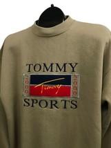 1990s Tommy Bootleg Sweatshirt / 90s 2000 Beige Sweatshirt Streetwear / ... - $69.00
