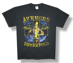 Avenged Sevenfold-Bat Cross-Stellar 2014 Tour-Black Lightweight T-shirt - $16.99
