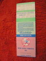 MLB New York Yankees Bronx NY Assorted Ticket Stubs $6.95 Each - $6.88
