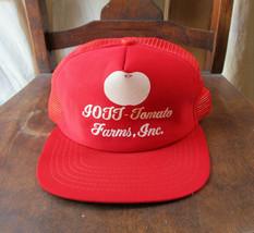 IOTT Tomato Farms Trucker Hat Mesh Back Snapback Red Baseball Cap New Er... - $9.74