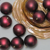 "36 Matte Burgundy Red Shatterproof Christmas Ball Ornaments 4"" - $103.95"