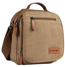 Unisex Canvas Messenger Bag Shoulder Bag Ipad Bag - $25.78