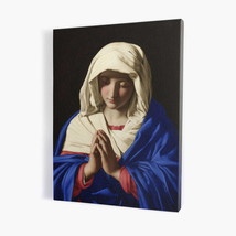 """An item in the Collectibles category: Praying Mother of God painting, print on canvas 19,68"""" x 27,55"""""""
