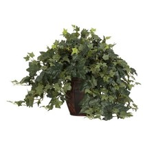 Nearly Natural 6660 Puff Ivy with Vase Decorative Silk Plant, Green - $77.23