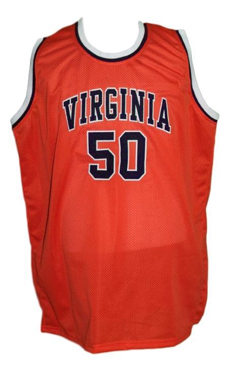 Ralph sampson  50 custom college basketball jersey orange   1