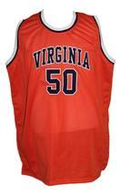 Ralph Sampson #50 Custom College Basketball Jersey New Sewn Orange Any Size image 1