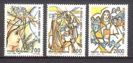 1990 St Angela Merici Set of 3 Vatican Postage Stamps Catalog Number 850-52 MNH