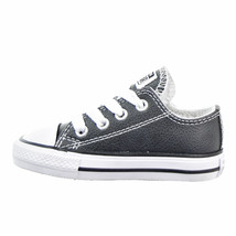 Converse All Star Chuck LEATHER OX 750221F Black Toddler Shoes - $38.95