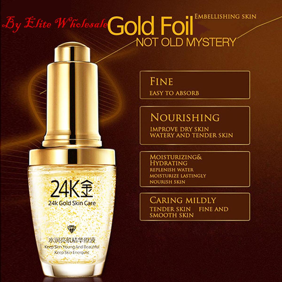 24K Gold Essence Anti-Wrinkle Skin Care Moisturizing Liquid