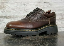 Womens Dr Martens Oxford Shoes Sz 10 Used Made in England 9272 Brown Leather - $44.55