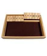 WE Games Deluxe Wood Shut the Box Game - 12 Numbers, 14 x 9 x 2 inches - $24.45