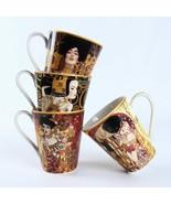 LOULONG® Gustav Klimt Series Famous Oil Painting KISS WAIT Artwork Mug C... - $28.92