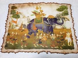 Thai Elephant Art Painting Picture Handcraft Vintage Wall Home Decor Pap... - $10.00