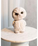 Adorable Chibi Angry Snow White Owl Standing Bobblehead Figurine Bird De... - $19.99