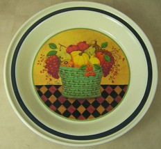 "Hallmark 10.75"" Bowl Harvest Still Life by Valerie Pillow Fruits Vegetables - $12.35"