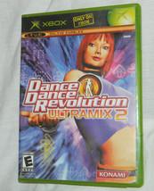 Dance Dance Revolution Ultramix 2 (Microsoft Xbox 2004) with Plastic Case - $8.56