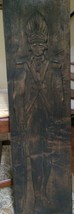 HAND CARVED WOOD ANTIQUE/VINTAGE SOLDIER WALL HANGING PLAQUE 3' TALL - $46.40