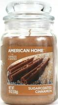 1 American Home By Yankee Candle 19 Oz Sugarcoated Cinnamon Glass Jar Candle - $26.99