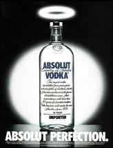 Absolut Vodka 1995 Perfection 8 x 11 halo advertisement - $4.50