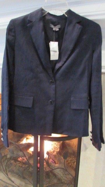Vince. Navy Blue Linen Blend Blazer Sz 4 Retail $375.00