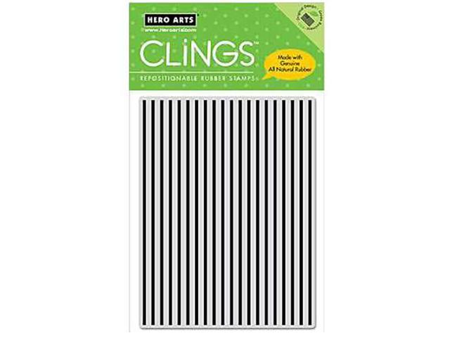 Hero Arts Stripes Pattern Rubber Cling Background Stamp #CG118