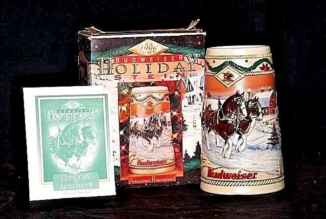 Budweiser 1996 Holiday Stein AB 246