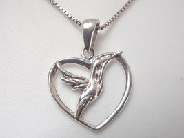 Very Small Flying Bird 925 Sterling Silver Pendant - $8.70