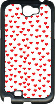 Valentine's Small Red Hearts Collage Samsung Galaxy Note II 2 Hard Case Cover - $13.95
