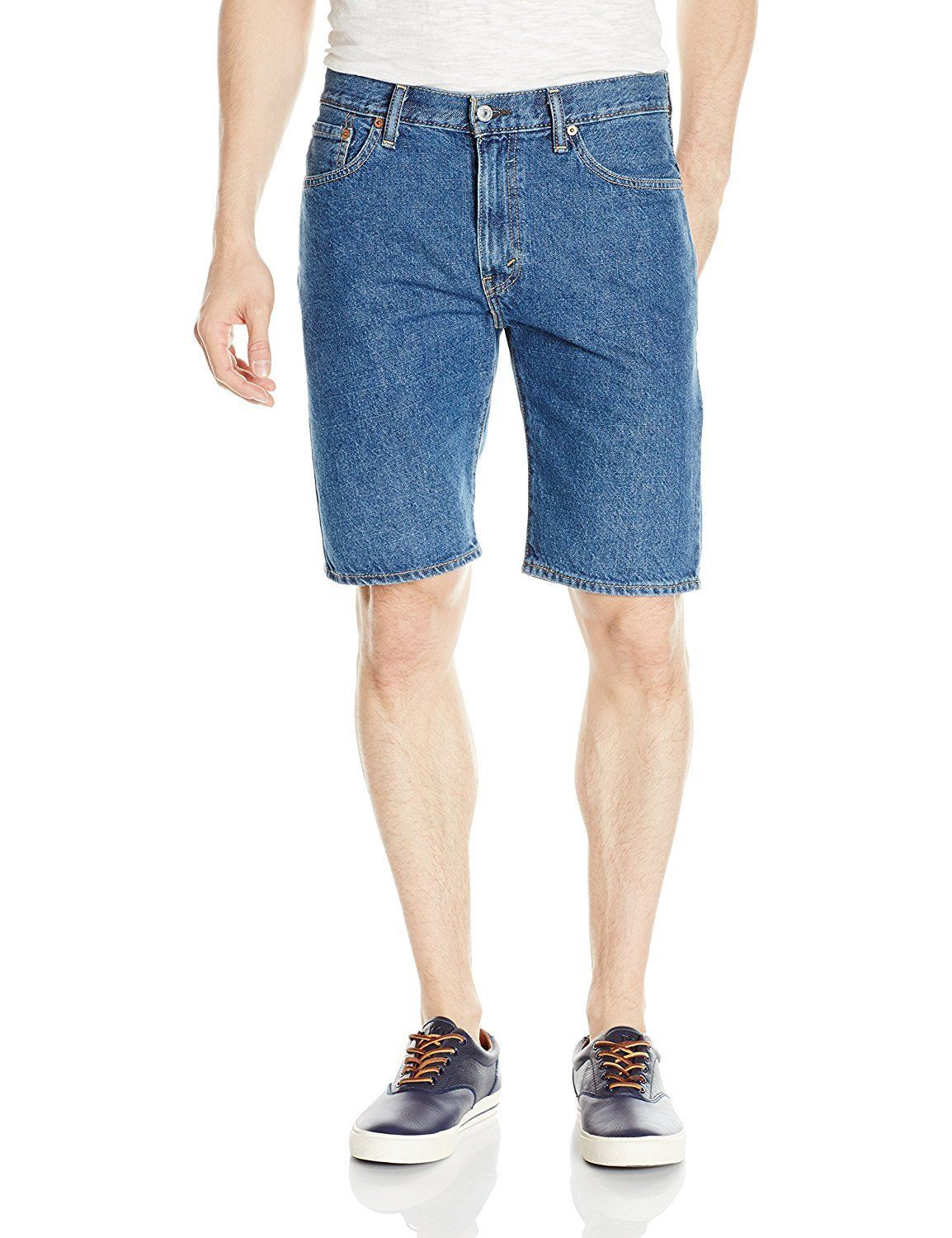 Levi's 505 Men's Cotton Regular Fit Medium Stonewash Denim Shorts 505-2111 sz 38