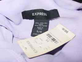 Express purple dress ombre fade beaded straps 100% silk-5/6-NEW $88. image 5