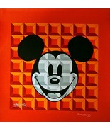 Tennessee Loveless-8-Bit Block Mickey (Red)-LE Serigraph/Canvas/Hand Sig... - $170.05