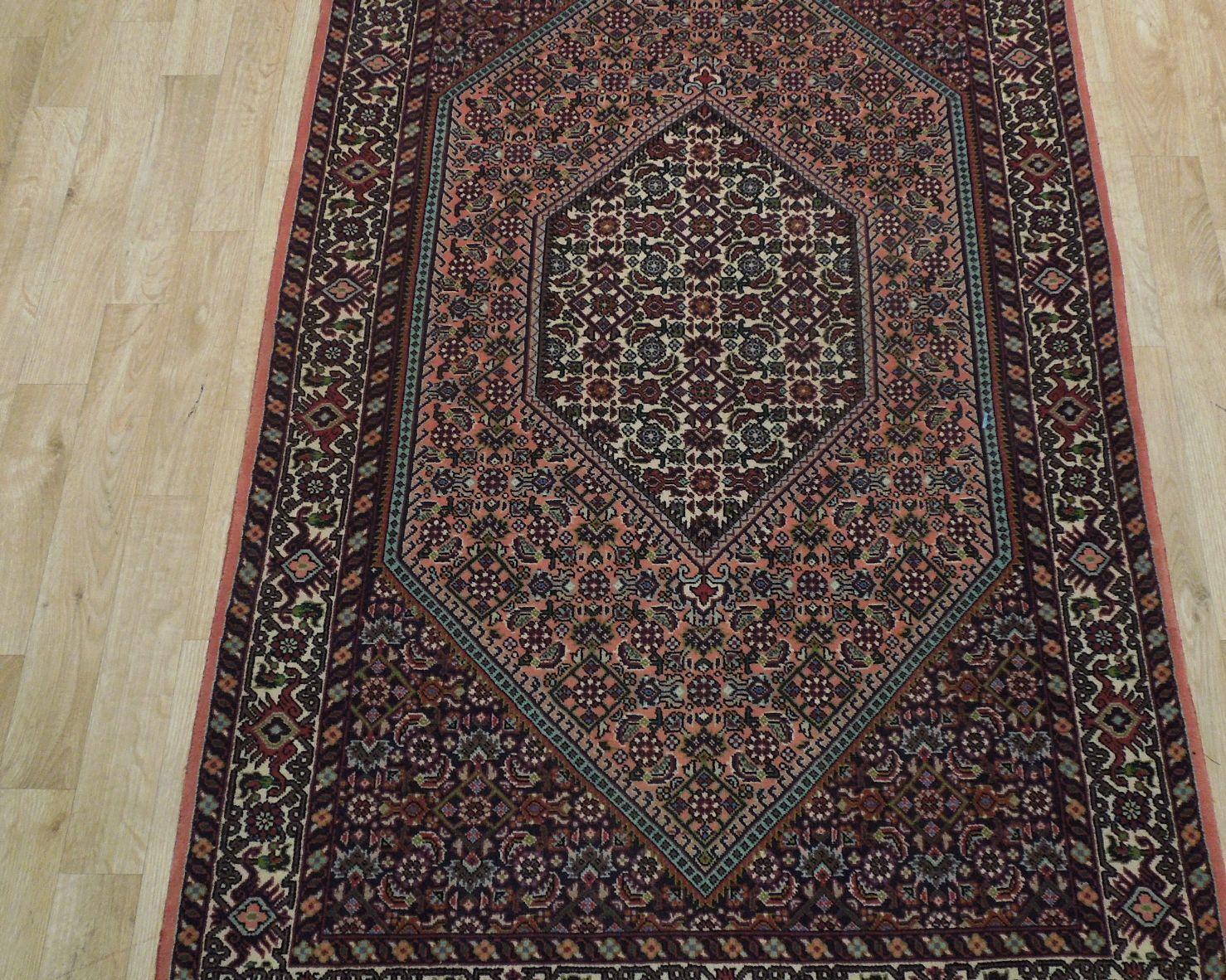 3' x 6' Floral Durable Herati Peach Traditional Persian Wool Handmade Rug
