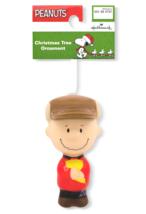 Hallmark Peanuts Charlie Marrone Decoupage Natale Ornamento Nuovo con Etichetta