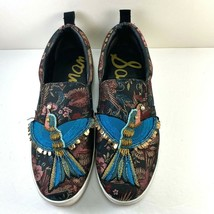 Sam Edelman Womens Shoes 9 M Leila Embroidered Bird Tapestry Sneakers Lo... - $39.37