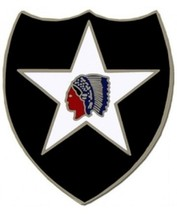 US Army 2nd Infantry Division Combat Service Badge (2 inch) - $14.84