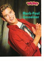 Mark Paul Gosselaar teen magazine pinup clipping vintage 90's Back in school