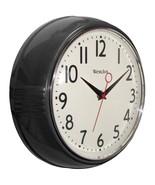 Westclox 32042BK 9.5 1950s Retro Black Case Convex Glass Clock - $27.50