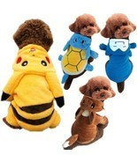 Pet Dog Cat Clothes Costume Pokemon Go Pikachu Snorlax Hooded Outfit Hal... - $9.89+